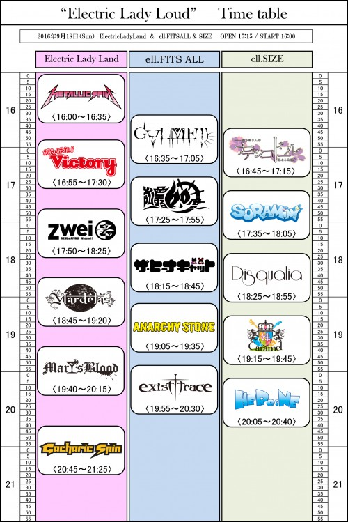 _Electric-Lady-Loud__Time-table-Sheet1